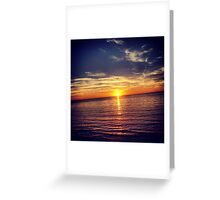 Horizon Sunset Greeting Card