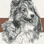 Shetland Sheepdog Father & Son by BarbBarcikKeith