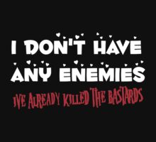 I Don't Have Any Enemies, I've Already Killed The Bastards by TeesBox