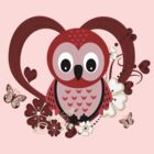 Love Owl .. Tee Shirt by LoneAngel