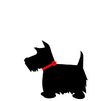 Scottish Terrier Dog Silhouette by roughcollie5