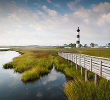 Bodie Island Lighthouse Late Summer Scenic Landscape by MarkVanDyke
