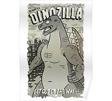 Dinozilla BW Poster
