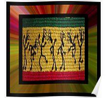 lively reggae dancers (square) front Poster