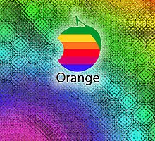 Orange IPhone Case by GraphicLife