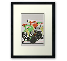 Velodrome bike race Framed Print
