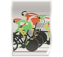 Velodrome bike race Poster