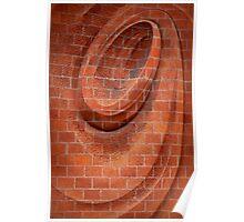 Spiral in Brick Poster