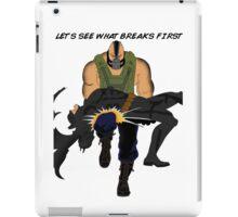 Bane breaks Batman iPad Case/Skin
