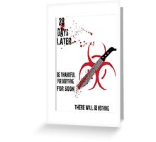 28 Days Later-White Greeting Card