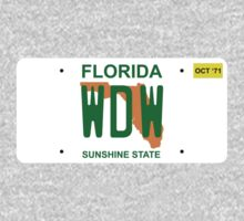 WDW opening day license plate by TRStrickland