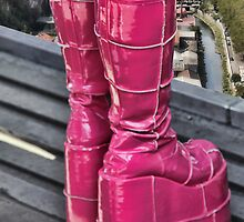 Pink Boots by Jasna