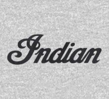 Indian logo - Dark Denim Brown Stitch by antdragonist