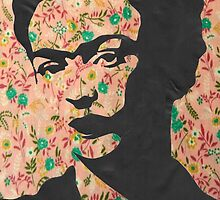Frida Kahlo Floral Print  by georgiagraceart