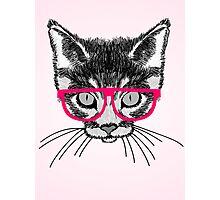 Hipster Kitten Photographic Print
