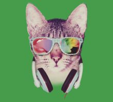 Hipster Cat With Glasses (Colorful Smoke) by mullian