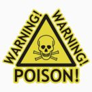 Poison! Warning! Warning! Crossbones YELLOW by HighDesign