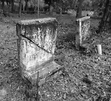 Cracked Tomb Stone Artistic Photograph by Shannon Sears by twobrokesistas
