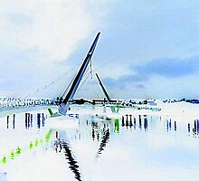 Lumiere Peace Bridge Meets Snow........An Impression by Fara