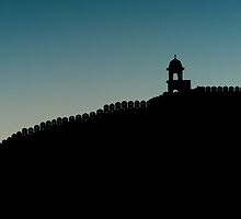 Silhouette of wall and tower by Nick Dale