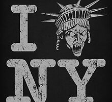 Angels love NY - Print by TrulyEpic