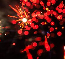 Red Fireworks by ThatGuyPhotos
