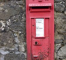 Traditional Red British Post Box in Wall by Grant Wilson