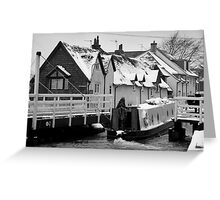 Canal Boat in West Mills Greeting Card