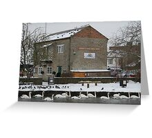 Tea Shop by the Canal - Newbury Greeting Card