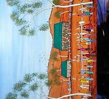 """Outback Race day"" Australia; iPad Case  by EJCairns"