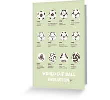 My Evolution Soccer Ball minimal poster Greeting Card