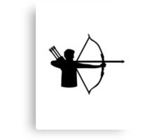 Archery player Canvas Print