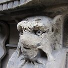 Gothic window support, Florence, Italy by buttonpresser