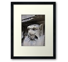 Gothic window support, Florence, Italy Framed Print