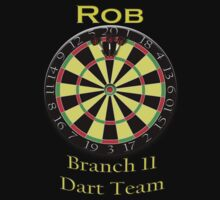 *** PERSONALIZED*** Darts tee - Rob by marinasinger