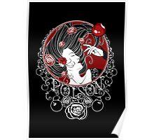 Poison - Black Rose Full Illustration Poster