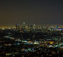 Los Angeles at Night by Kai Gradert