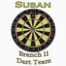 *** PERSONALIZED*** Darts tee - SUSAN by marinasinger