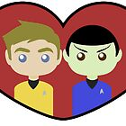Kirk and Spock by SedatedArtist