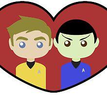 Kirk and Spock by SedatedArtist