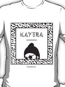Kaytranada with white 'kayta' and white face T-Shirt