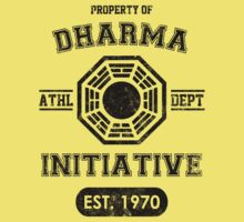 Dharma Initiative athletic department (Black ver.) Kids Clothes