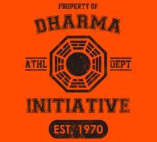 Dharma Initiative athletic department (Black ver.) Kids Clothes