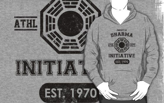 Dharma Initiative athletic department (Black ver.) by MalvadoPhD