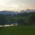 Dusk at Loughrigg Tarn by Kat Simmons