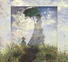 Woman with a Parasol - Monet by Eileen Ringwald