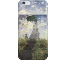 Woman with a Parasol - Monet iPhone Case/Skin