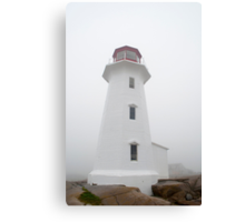 The Lighthouse At Peggy's Cove Canvas Print