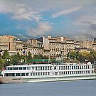 River Cruise Ship . by Irene  Burdell