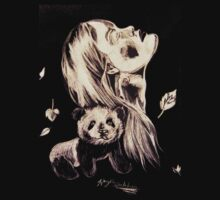 Woman and her Panda by linwatchorn